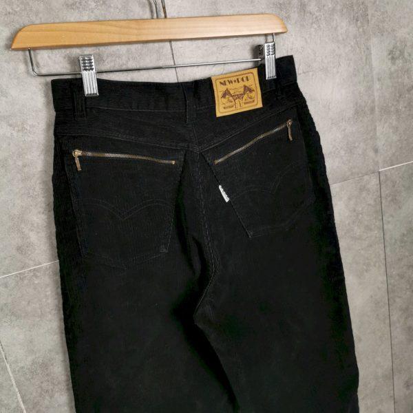 Vintage High Waist Jeans schwarz Größe S