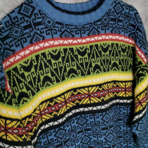 Vintage crazy Pattern Pulloverf L