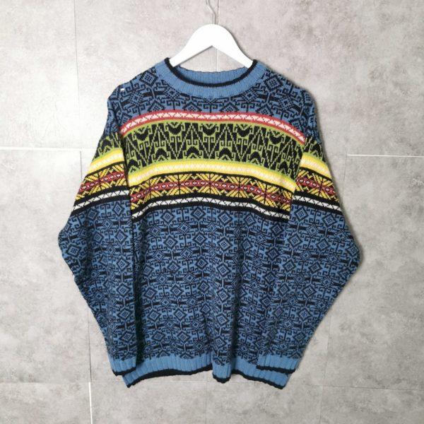 Vintage Crazy Pattern Pullover