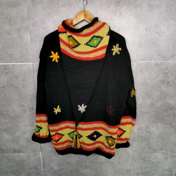 Ecuador Navajo Vintage Wolljacke M/L