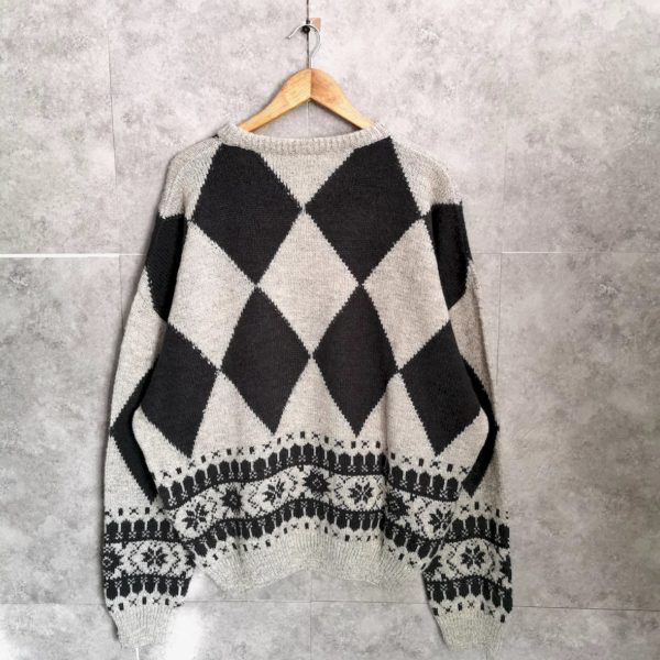 Vintage Wollpullover L/Xl