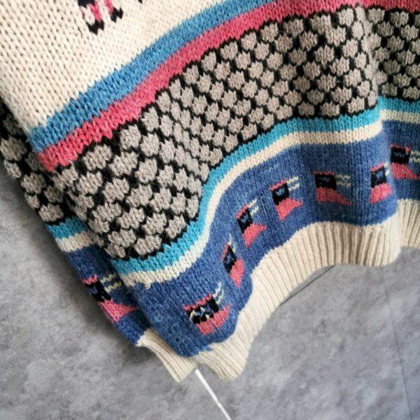 Wollpullover Azteken Muster bunt