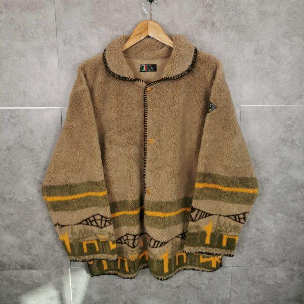 Vintage Fleecejacke / Mantel oversize M