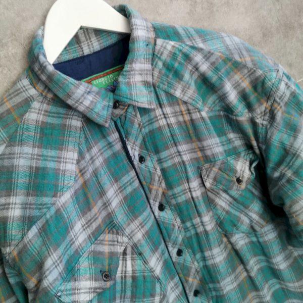 Giorgio Fellini Vintage Flanellhemd Hemdjacke XL