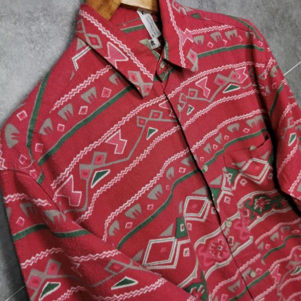90er Azteken Pattern Shirt