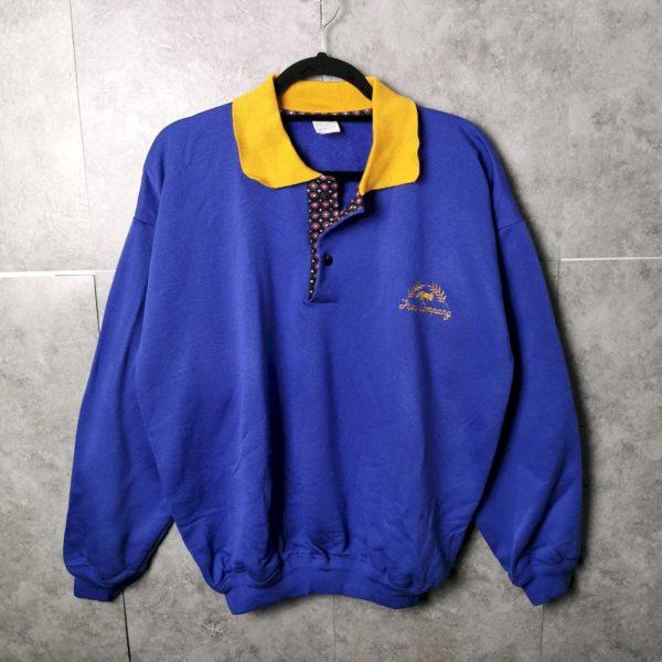 90er Polosweatshirt