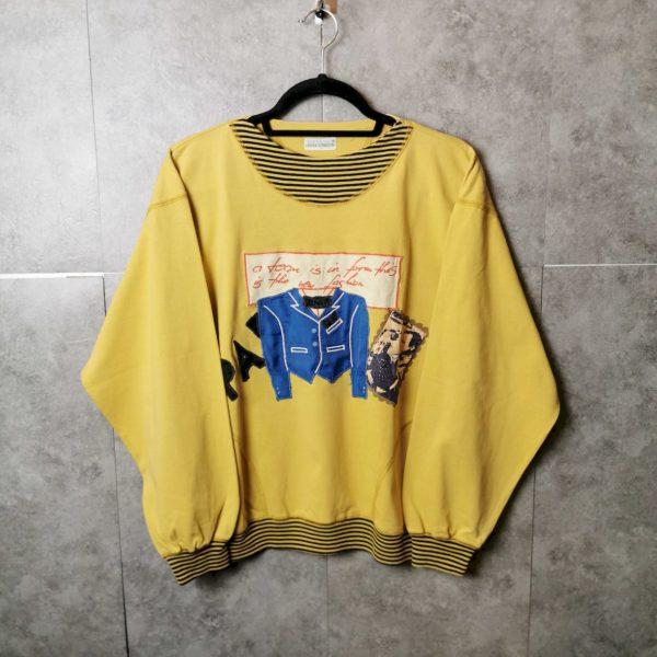 Louis London Vintage Pullover mit Crazy Prints