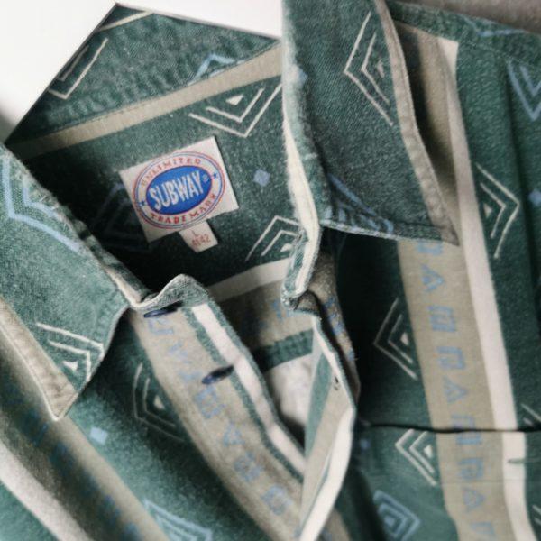 Ethno Flanell Vintagehemd mit Azteken Muster