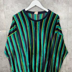 Vintage Jumper Nicki Pullover 70s/80s magic green Samt Sweater