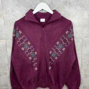80s/90s Sportswear Zipper-Jacke M Atzteken Muster