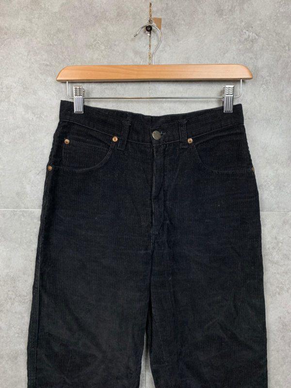 Vintage High Waist Kord Jeans Hose schwarz Größe S