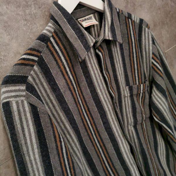 Flanell Vintage Hemd 70/80s gestreift