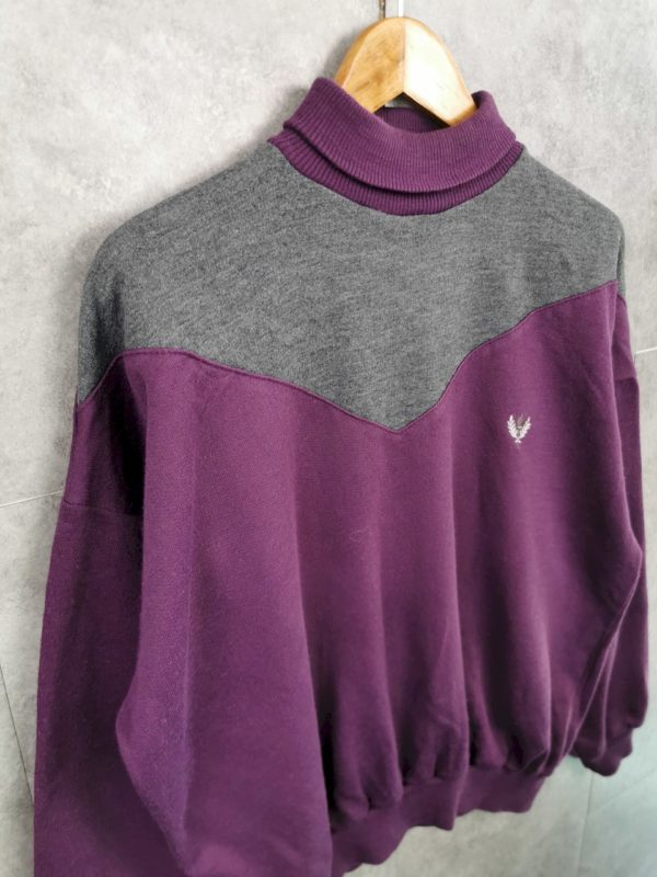 Vintage Jumper Pullover 80s/90s Sportswear Sweater mit Rollkragen