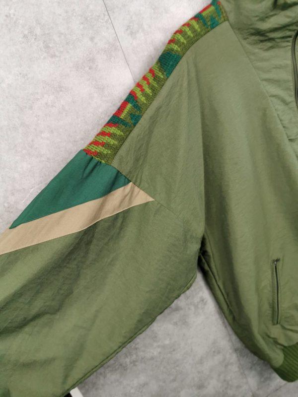 Vintage Half-Zipper Windbreaker gefüttert