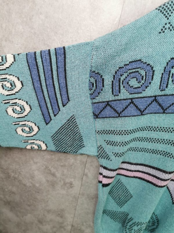 crazy pattern pullover, 80s jumper knitwear