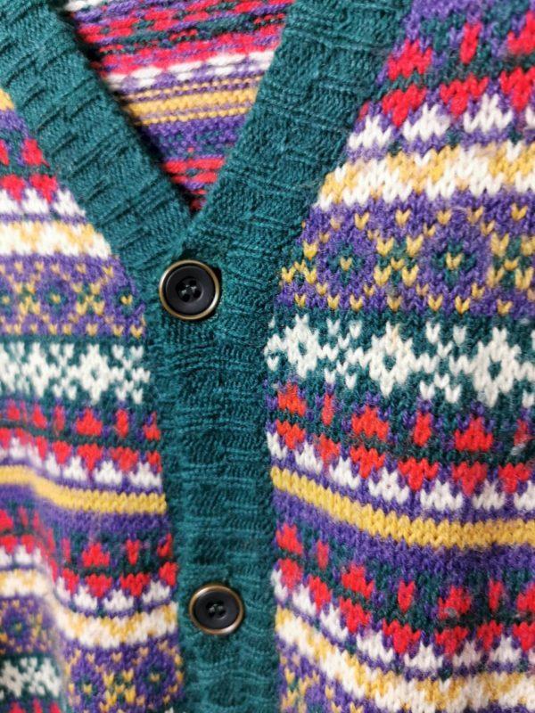 Vintage Strickjacke mit Knöpfen aus 80s % Wolle , vintage strickjacke , vintage kleidung