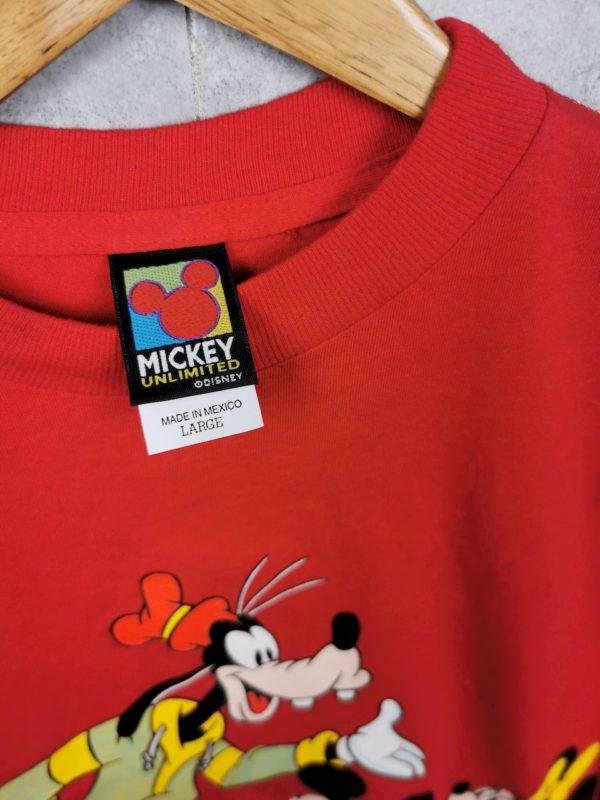 90er Micky Maus Vintage T-Shirt rot