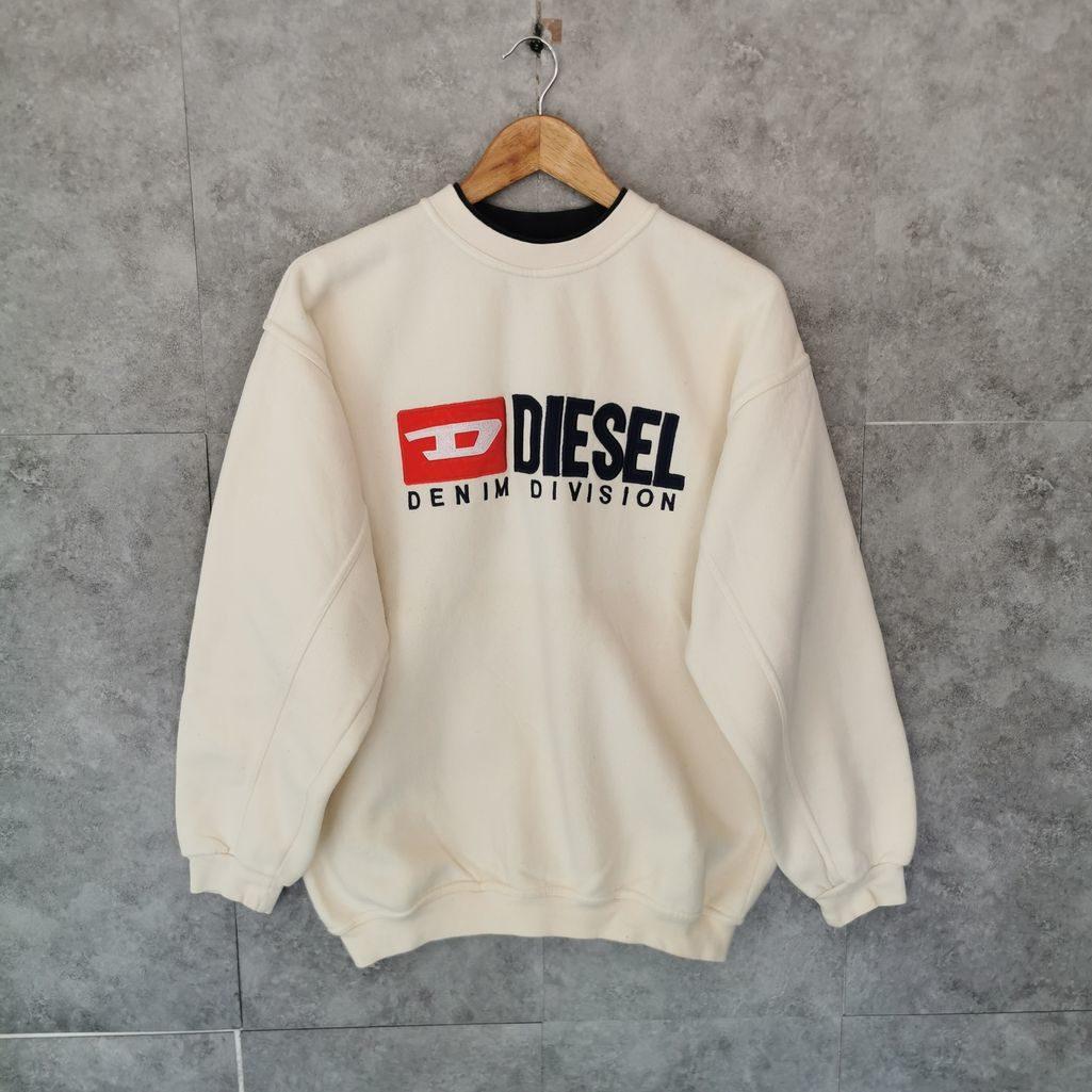 dies vintage pullover, beige, gesticktes Logo