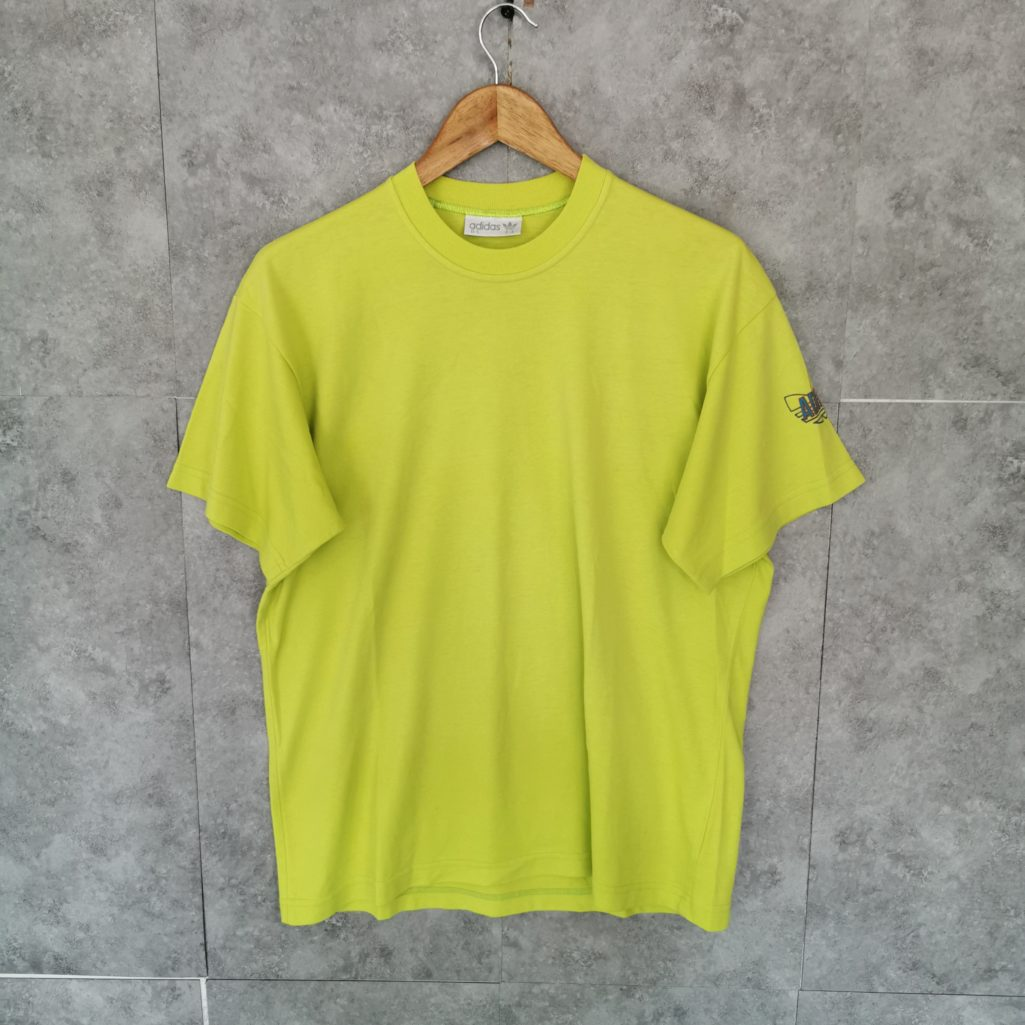 neonfarbiges vintage adidas t shirt s m herren