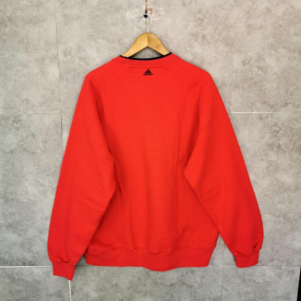 00er Jahre adidas vintage pullover rot oversize gesticktes logo xl