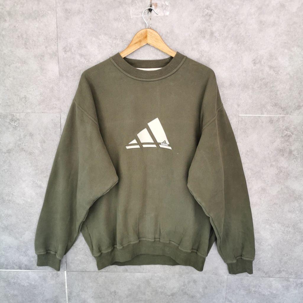 adidas oldschool vintage sweater size L xl oversize beige logo gestickt