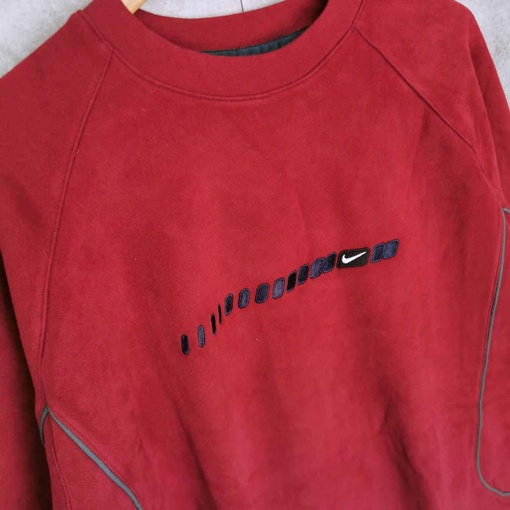 nike velour sweater bordeaux rot swoosh neu