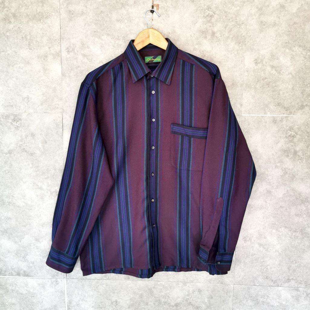 70er 80er jahre Hemd wollw blau lila m