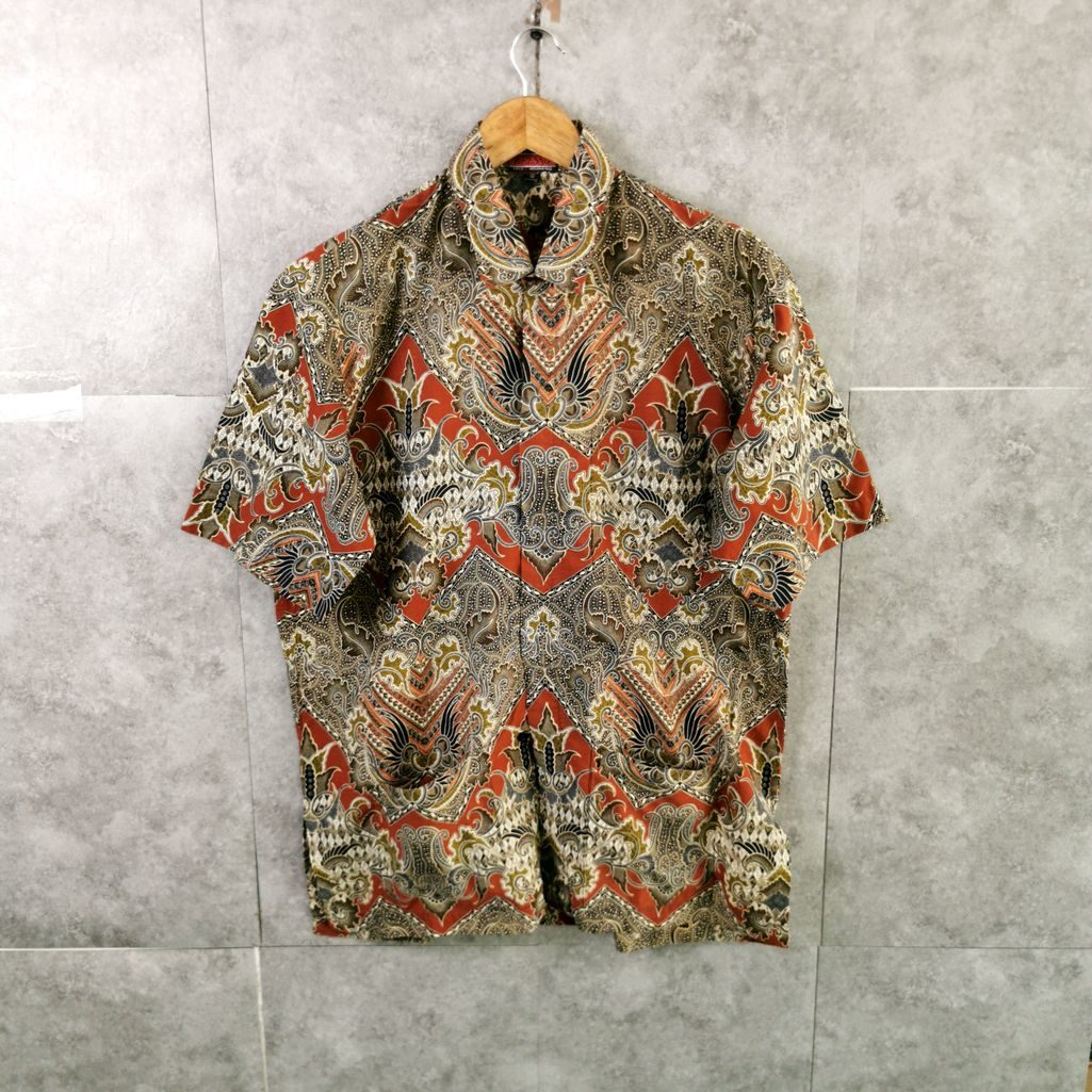 Indonesien Kresno 80er Jahre Pattern Shirt