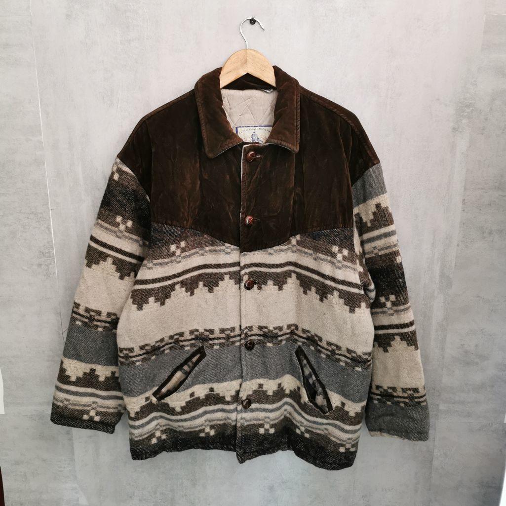 Rare! 70er 80er Navajo Azteken Mantel aus Wolle
