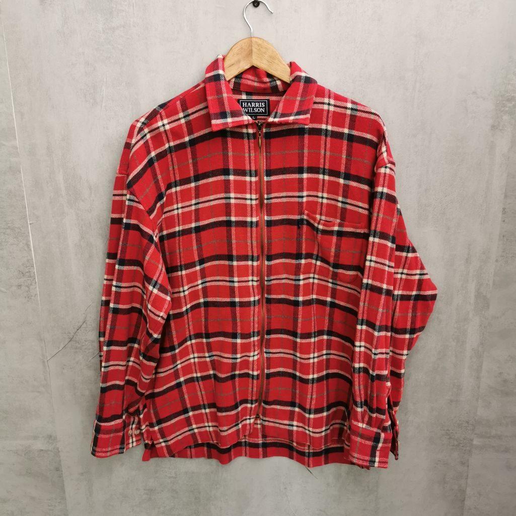 Harris Wilson 80er Flanellhemd mit Reißverschluß
