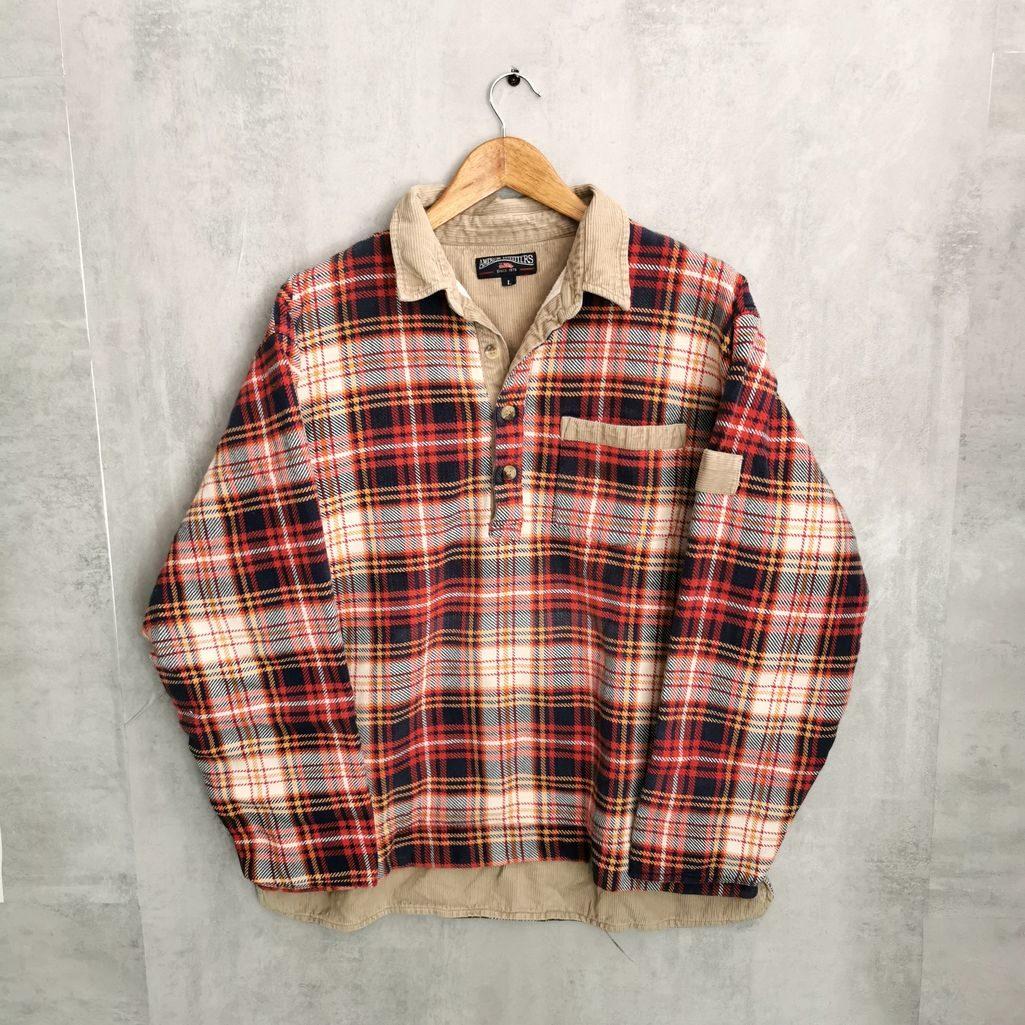 Kord flanell hemd vintage