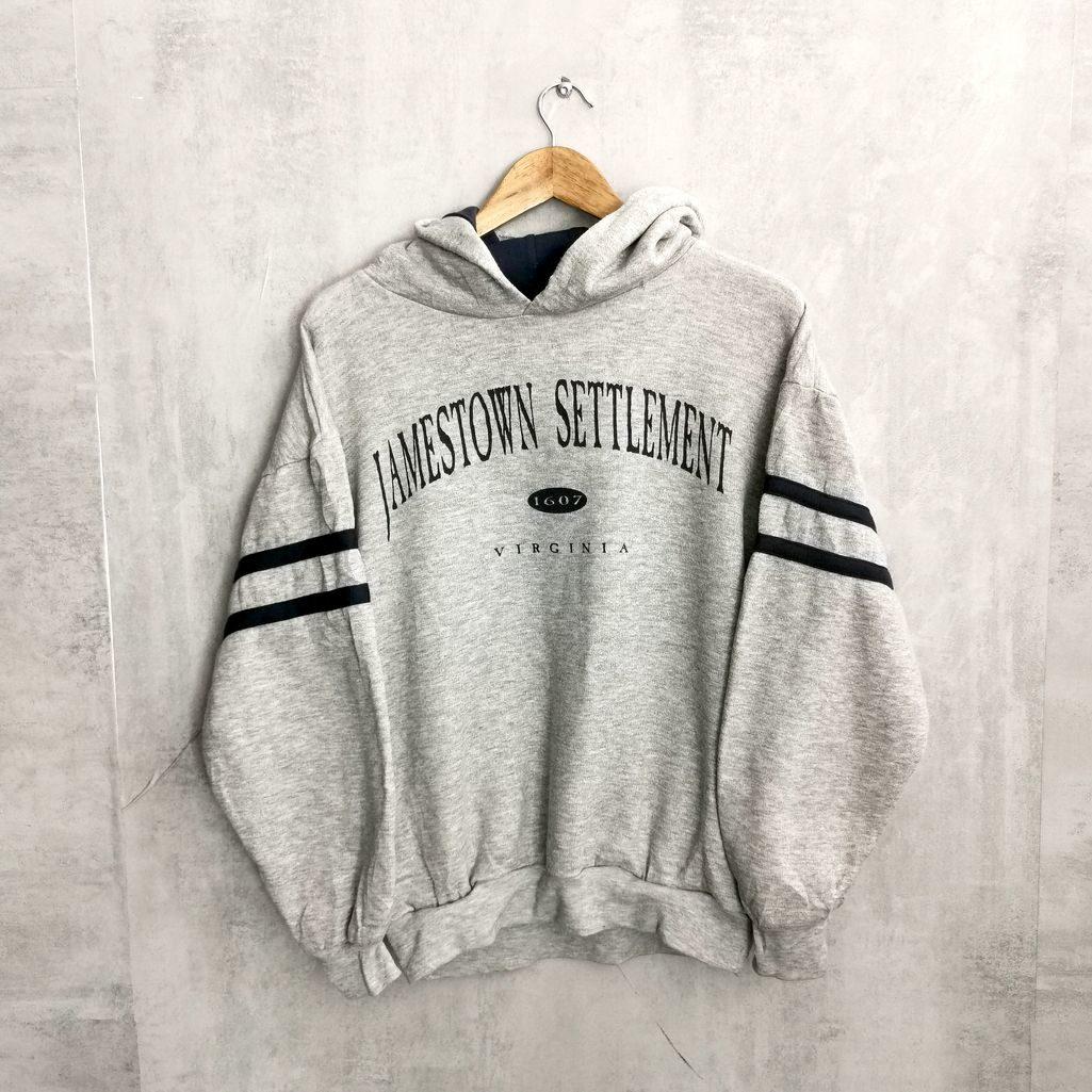 Jamestown Settlement American Sportswear vintage hoddie grau blau