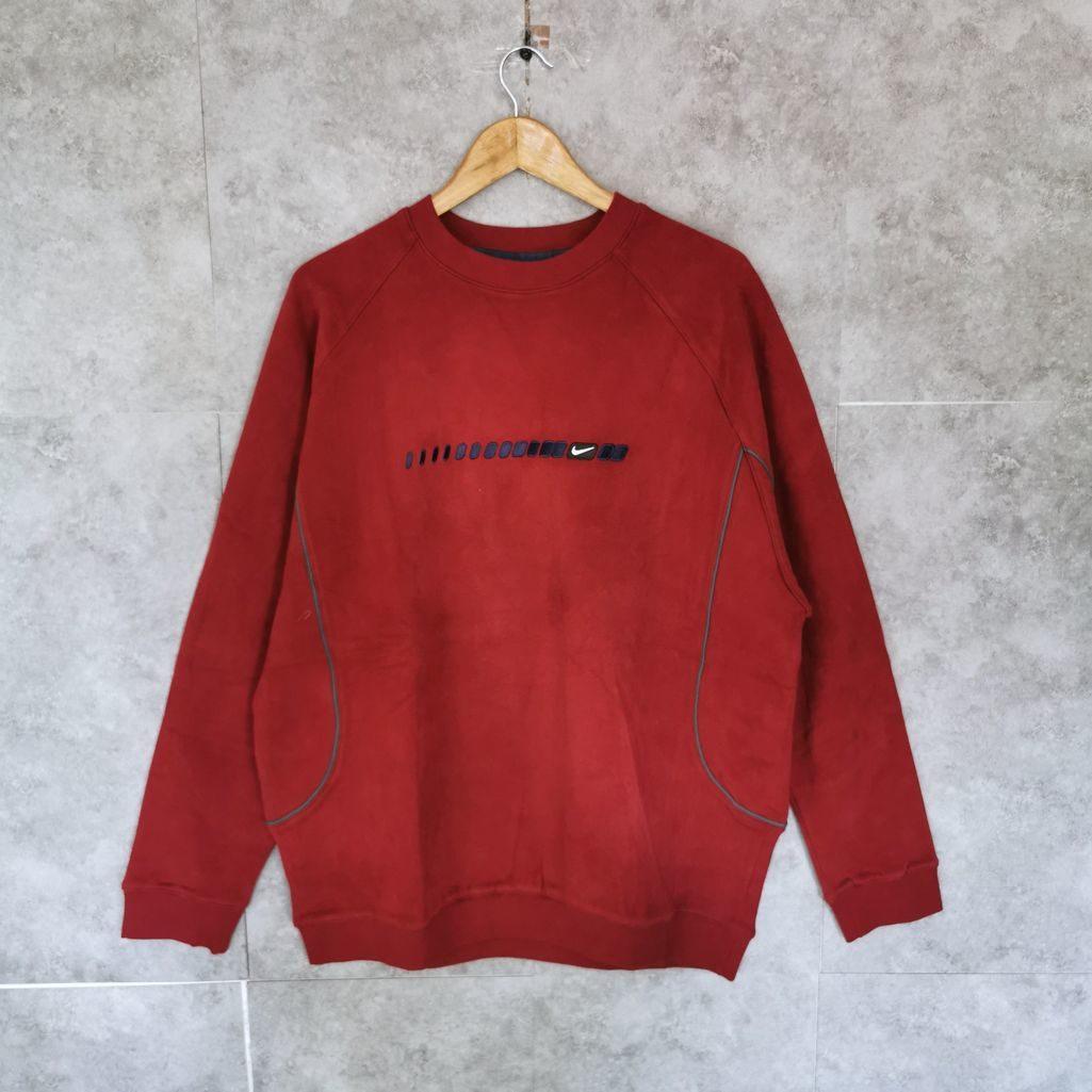 nike velour sweater bordeaux rot swoosh neu
