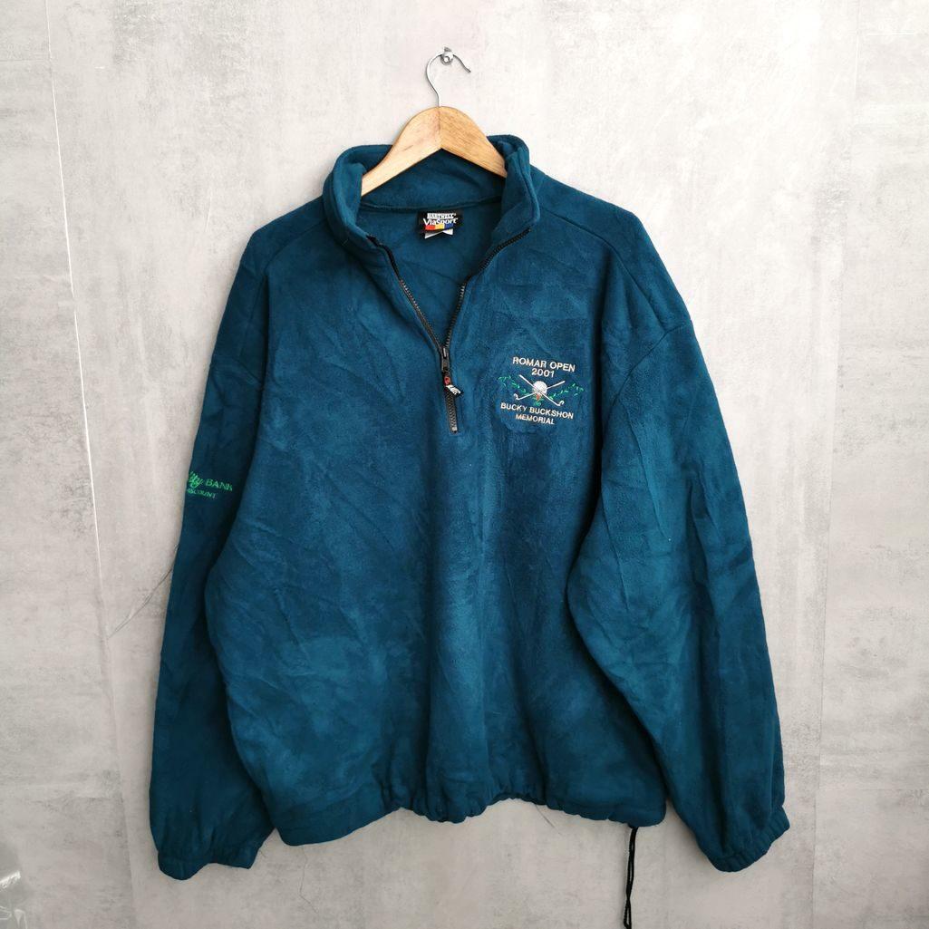 vintage golf fleece jacke pullover big size second hand usa