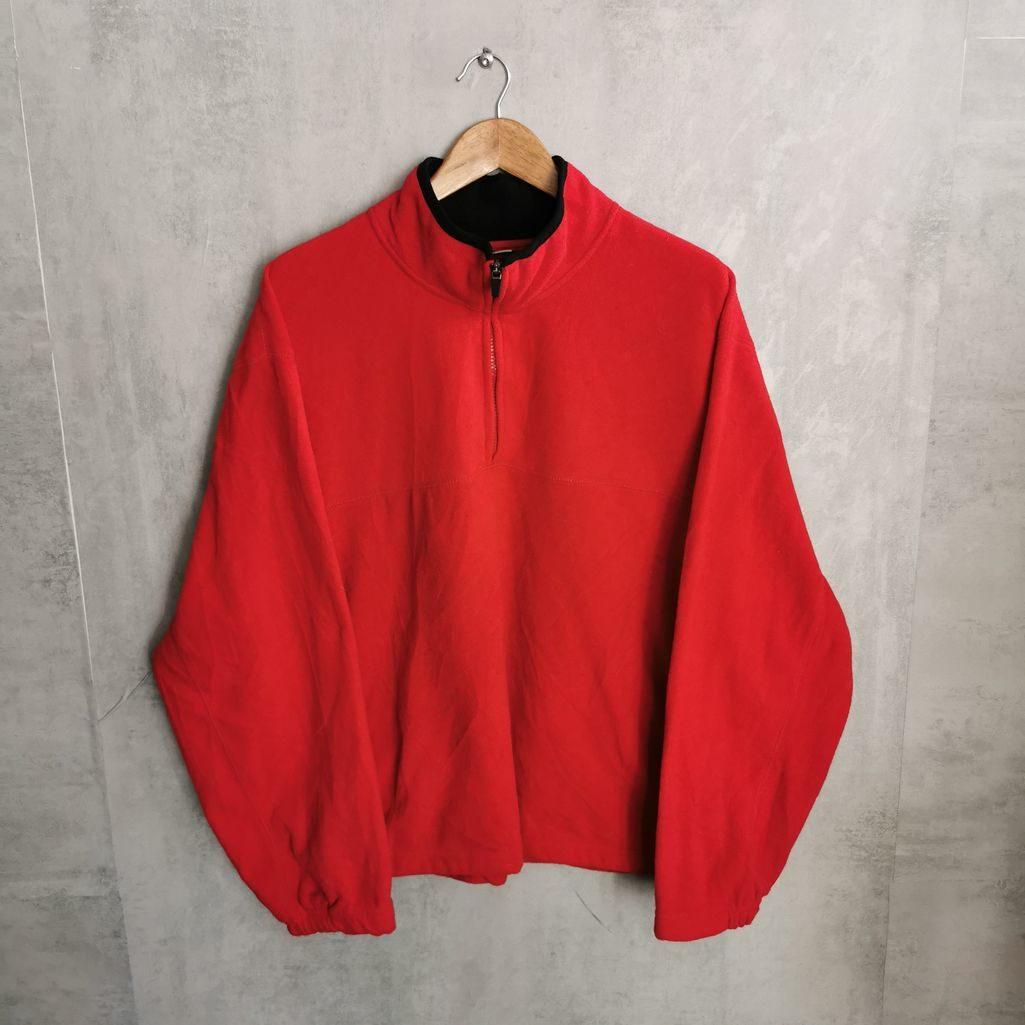 Athletic Works Vintage Fleece 1/4 Zip Sweater 90s Fleece Jacke Herren XXL