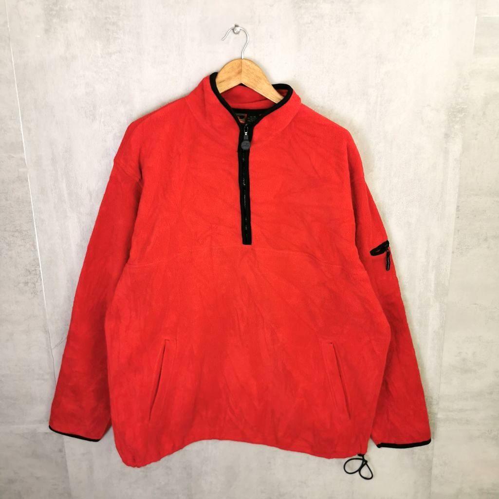 Pro Spirit Vintage Fleece 1/4 Zip Sweater 90s Crazy Fleece Jacke Herren XL tall