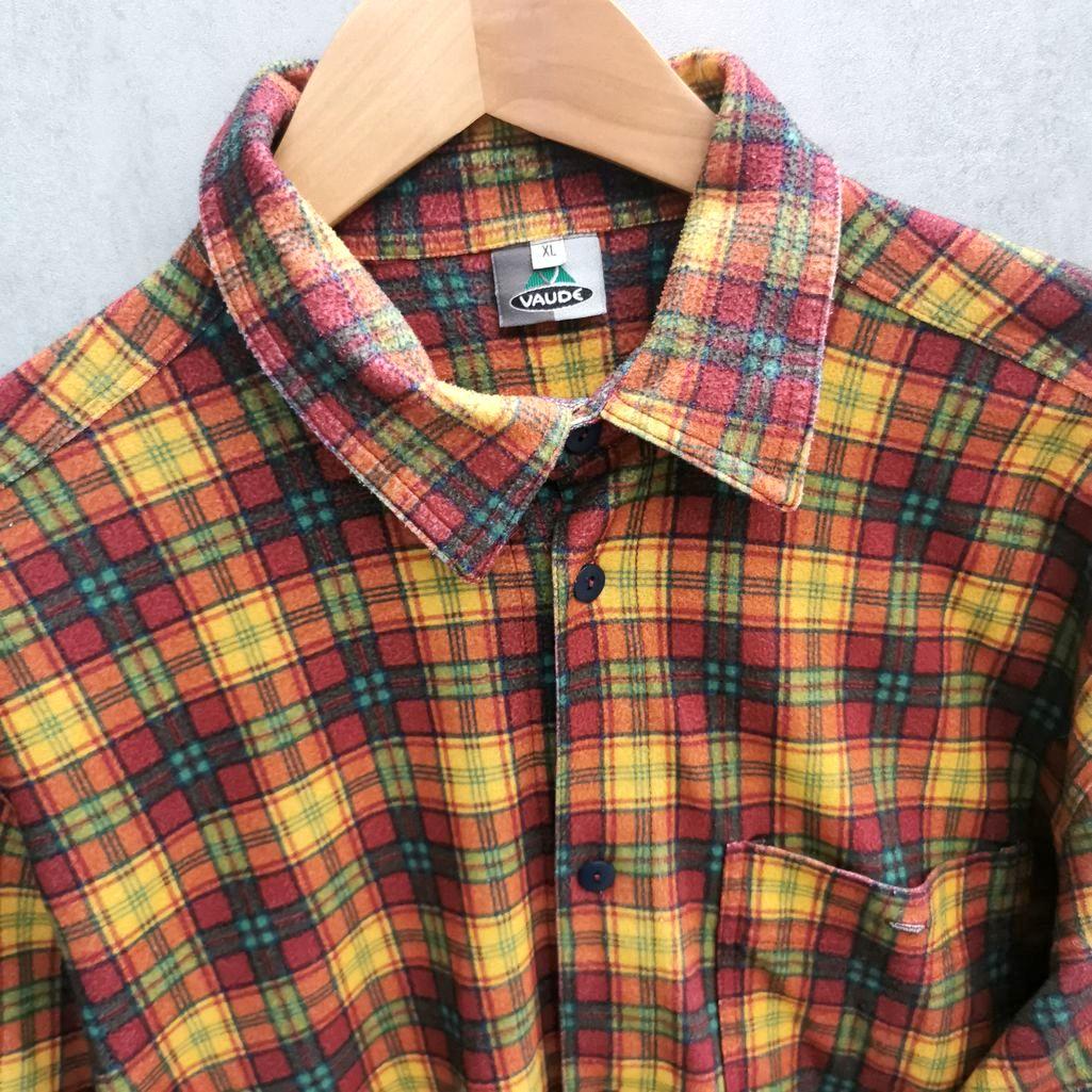 Vaude Vintage Hemd kariert 80er Flannel Shirt XL Damen