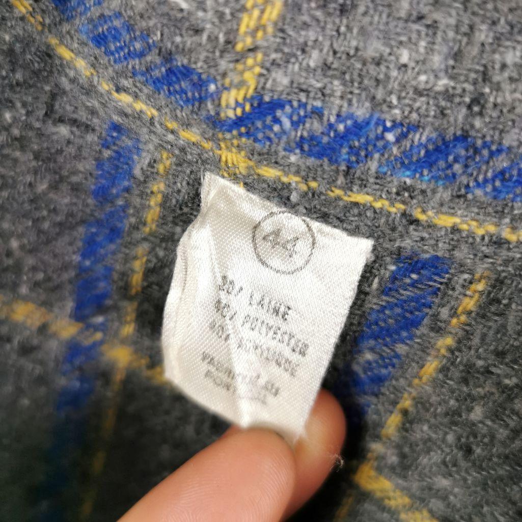 Vintage Wollshirt Hemd kariert 80er Flannel Shirt XL Damen