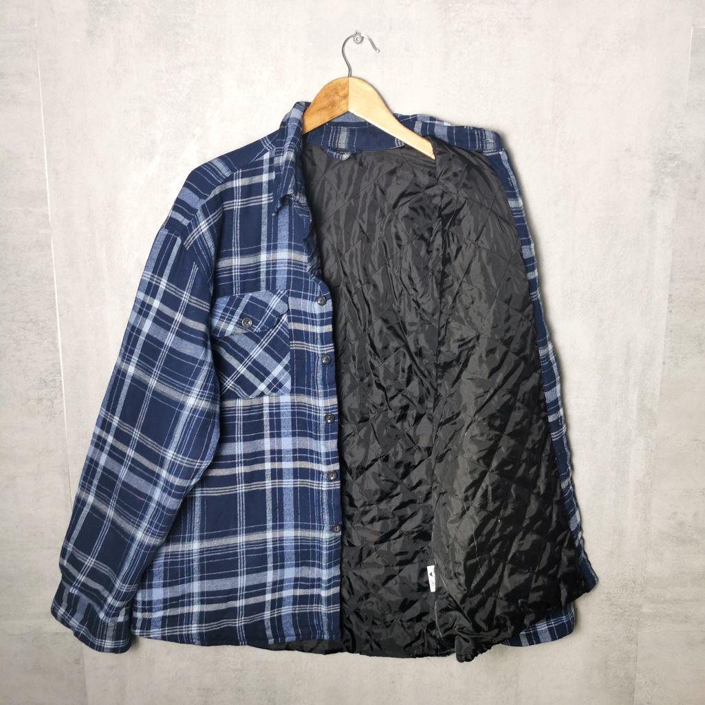 Enrico Mori 90s Flannel Jacke mit Futter Vintage Holzfäller Hemd-Jacke Herren L