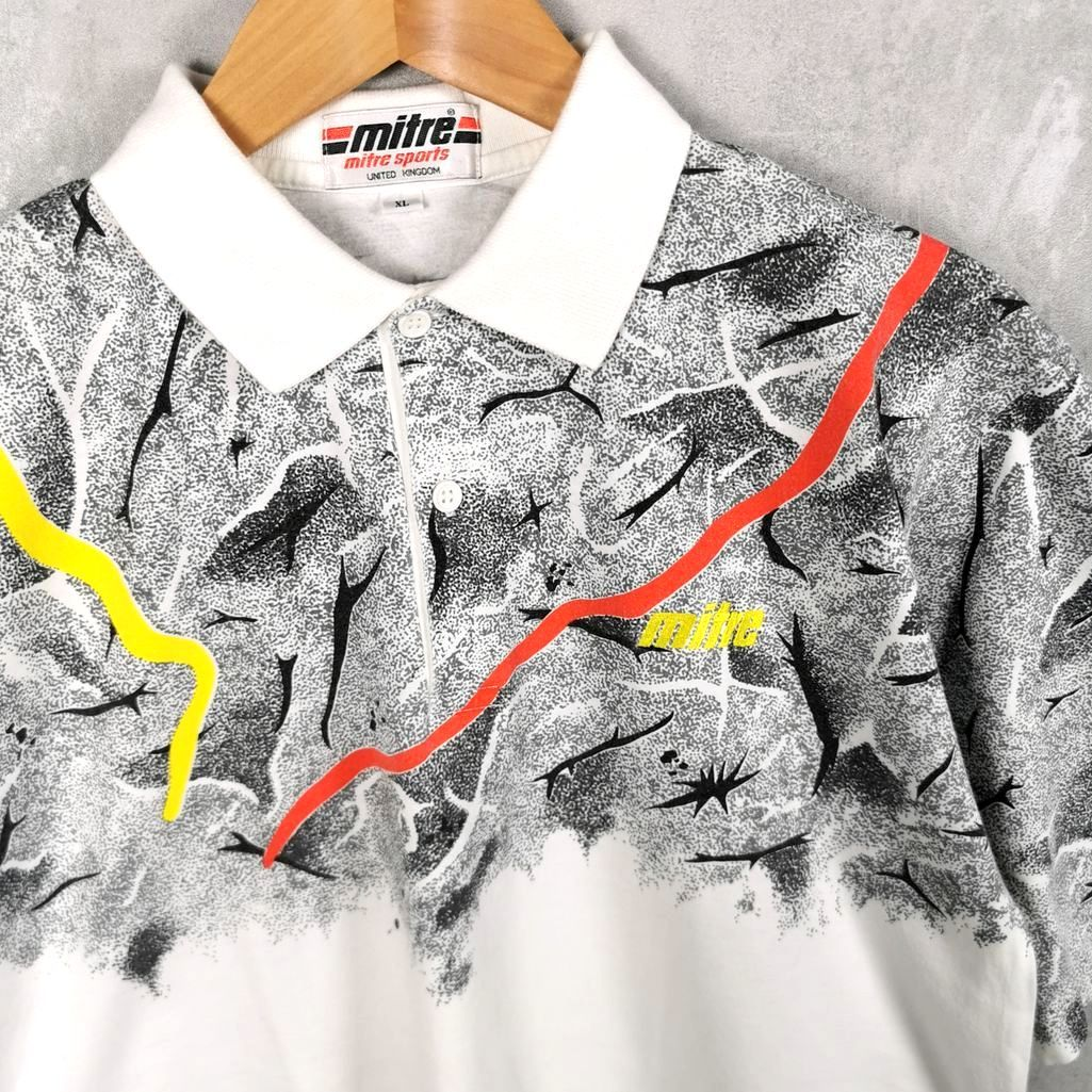 Selten! Mitre Vintage UK Crazy Polo T-Shirt mit Kragen Größe S