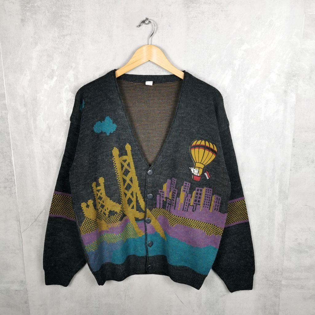 Herren Art Vintage Wool Cardigan Knitting pattern l