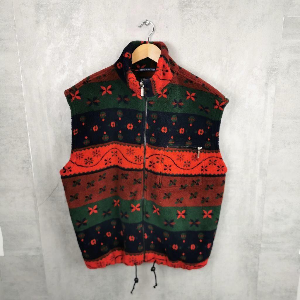 Campagnolo Italien Vintage Fleece Weste Unisex XL /XXL Oversize