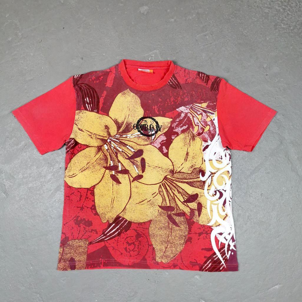 Oxbow Vintage T-Shirt Oldschool Rundhals Herren M Shirt big Prints