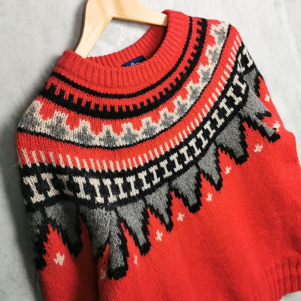 Rare! 80er Woolrich Vintage Pullover /Wollpullover fairisle Pullover M