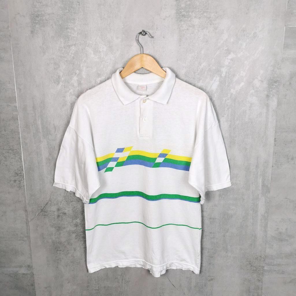 Selten! Griechenland Vintage Polo Shirt / T-Shirt mit Kragen Größe S