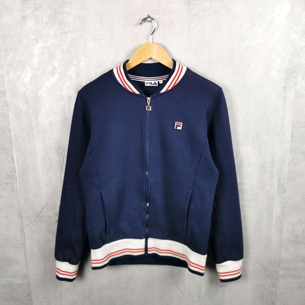80er Fila Vintage Sweat Jacke mit Reißverschluß neuwertig Herren S