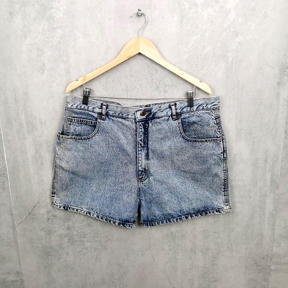 Rare! Herren Vintage Jeans , 80s kurze Jeans Short Acid Wash XXL