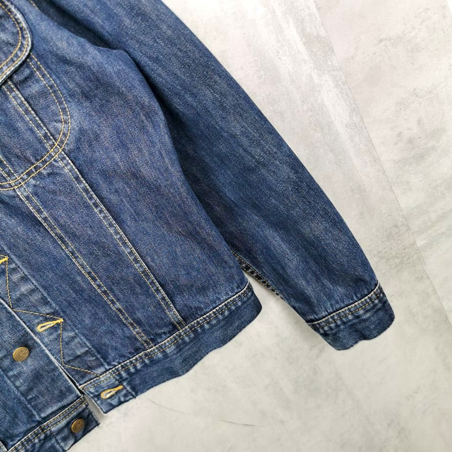 Lee 80er Herren denim Jacket, Workwear Vintage Jeans Jacke Slim fit Größe M dark blue
