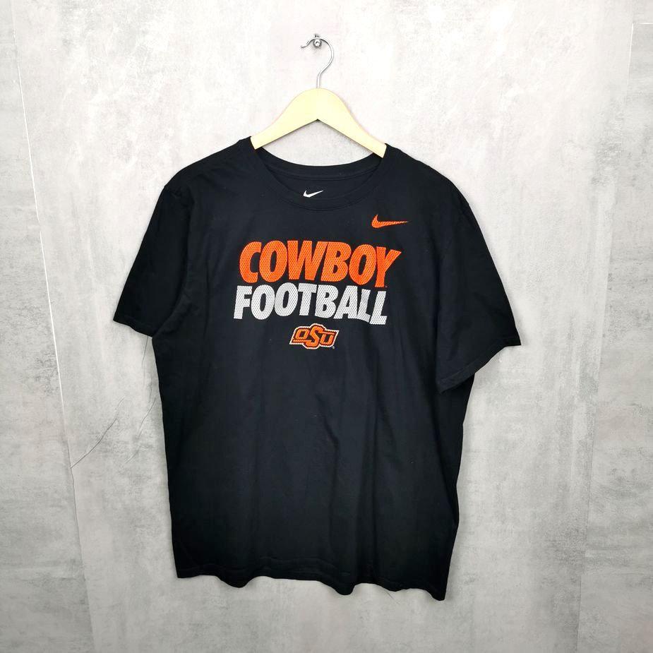 herren vintage t-shirt oklahoma state cowboys xl college football schwarz orange