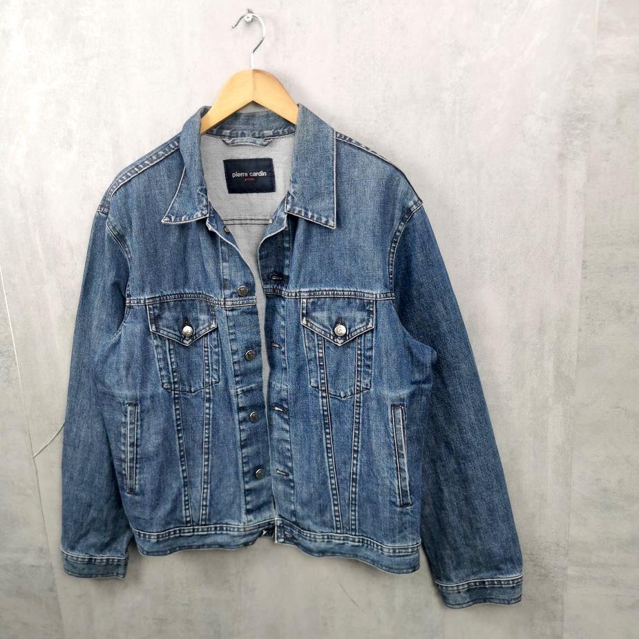 vintage herren jeans jacke pierre cardin groesse l